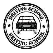 driving-school-stamp-vector-art_k18244143